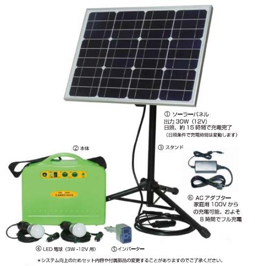 ソーラー蓄電くんポータブルタイプ CARRY3018